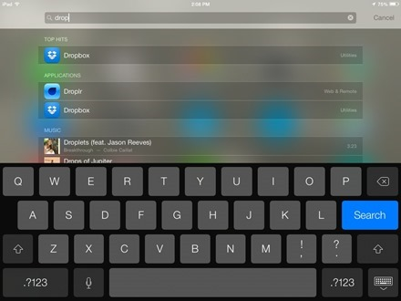 Spotlight Search iOS 7