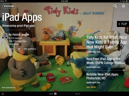 iPad Apps Flipboard magazine