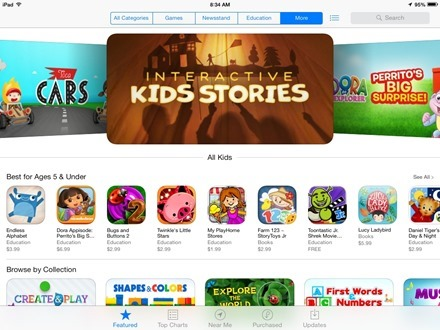 iPad Apps Kids Section
