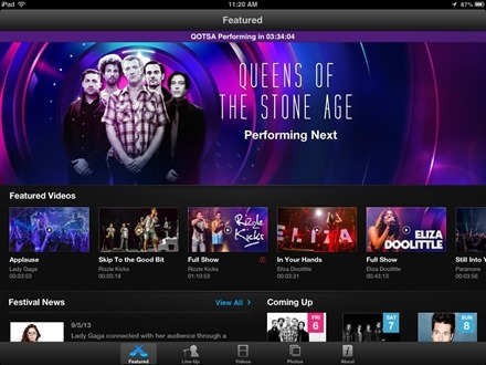 iTunes Festival London 2013 iPad app