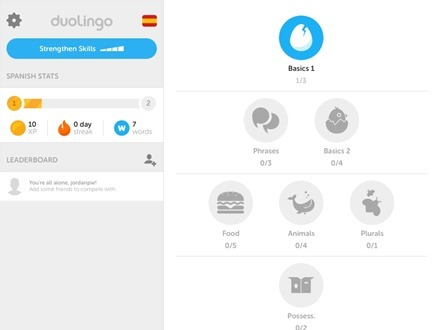 Duolingo for iPad