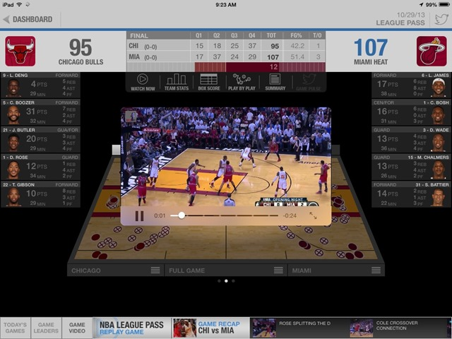 NBA Game Time for iPad Updated for iOS 7 & New Season
