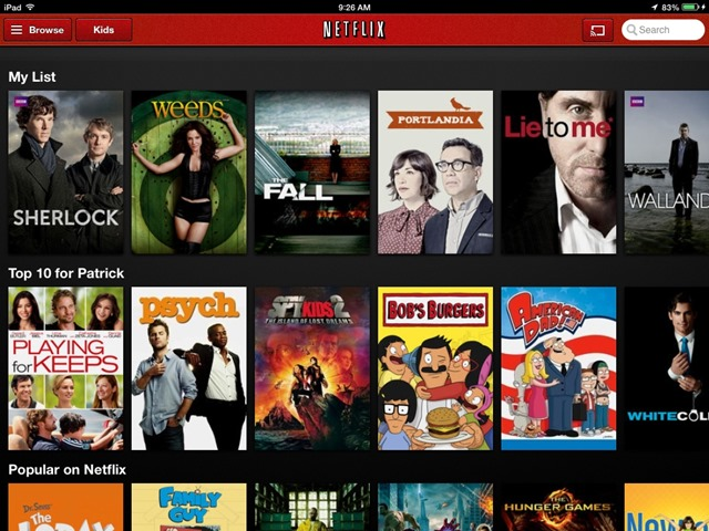 Netflix for iPad Updated: Background AirPlay Streaming & More
