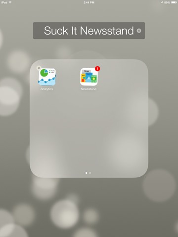Possibly iOS 7's Greatest Feature: Yes, You Can Put Newsstand in a Folder