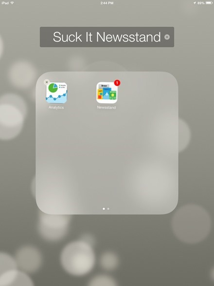 Newsstand in a Folder