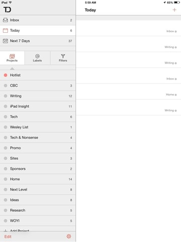 Todoist for iPad Updated for iOS 7 & Adds Background Sync
