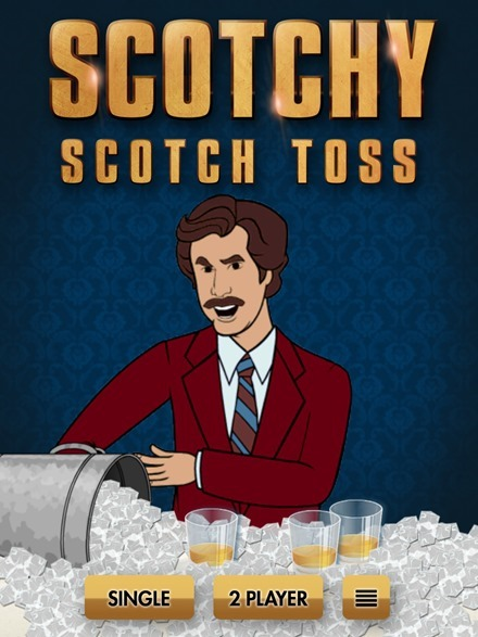 Anchorman 2 Scotchy Scotch Toss iPad game