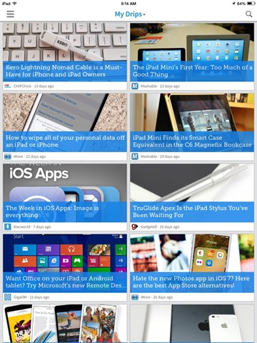 Notable New iPad Apps: Drippler