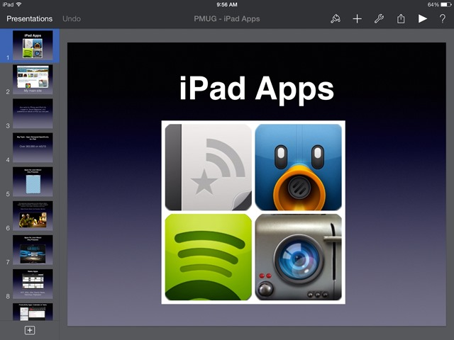 Keynote iPad App Updated – New Transitions & Builds
