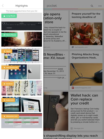 Pocket's iPad App Updated – New Highlights Section & More