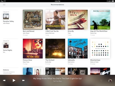 Rdio Recommendations