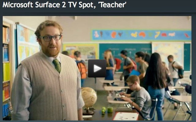 Microsoft Ad Features the 1 Teacher in America with Surface ...