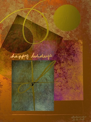 Today's featured iPad Art is of the seasonally themed variety. And ...