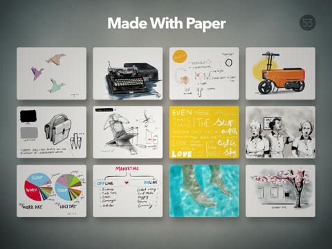 Paper by 53 iPad App Updated – Adds Features for Its New Pencil Accessory