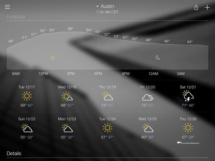 Yahoo Weather Forecast
