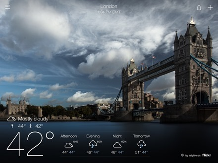 Yahoo Weather iPad app