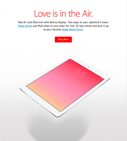 Ipad Love Is in the Air