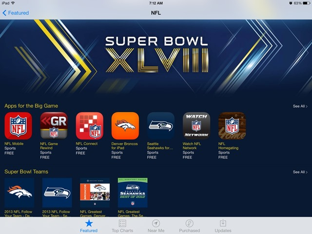 Featured App Store Collection: Super Bowl XLVIII Apps