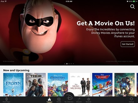 Disney Movies Anywhere for iPad