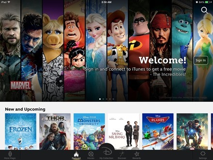 Disney Movies Anywhere iPad app