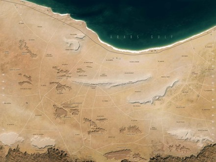 El Alamein map