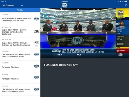 Fox Sports Go fof iPad