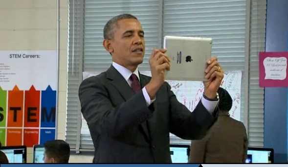 Cool Things: President Obama Filming Students with an iPad