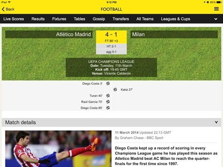 Football on BBC Sport