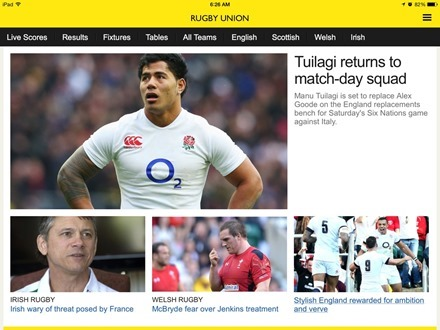Rugby Union BBC Sport