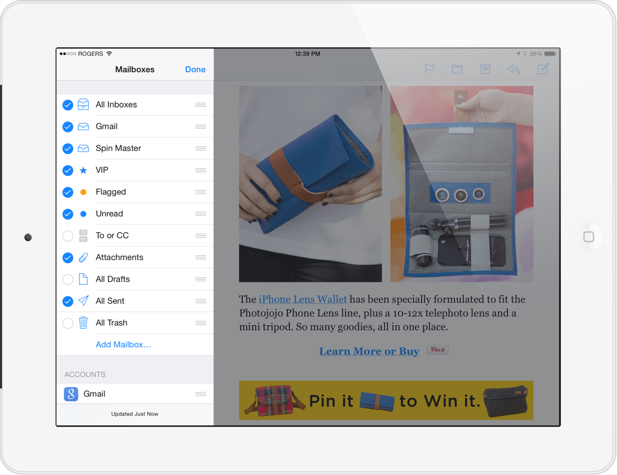 iPad Tips: Using Smart Mailboxes on iOS 7