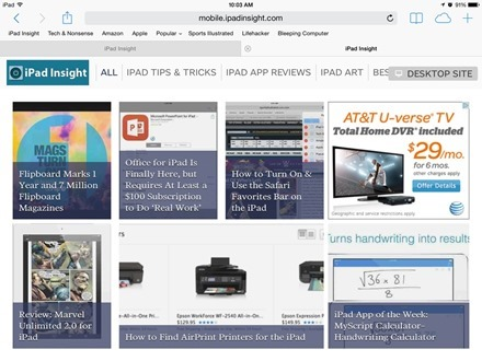 iPad Insight Mobile