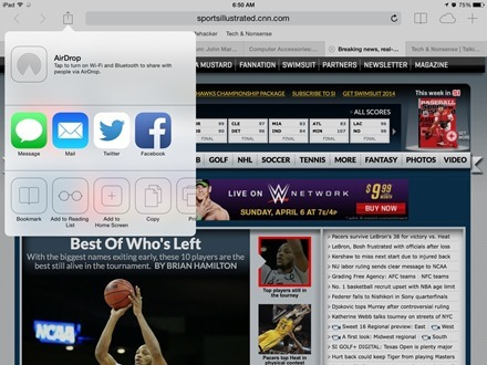iPad Safari Bookmark
