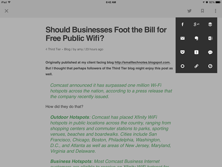 Feedly Adds Evernote support