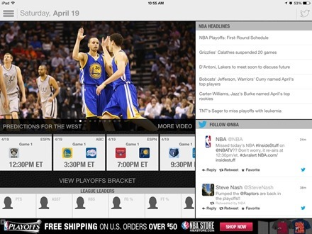 NBA Game Time for iPad Updated for the Playoffs