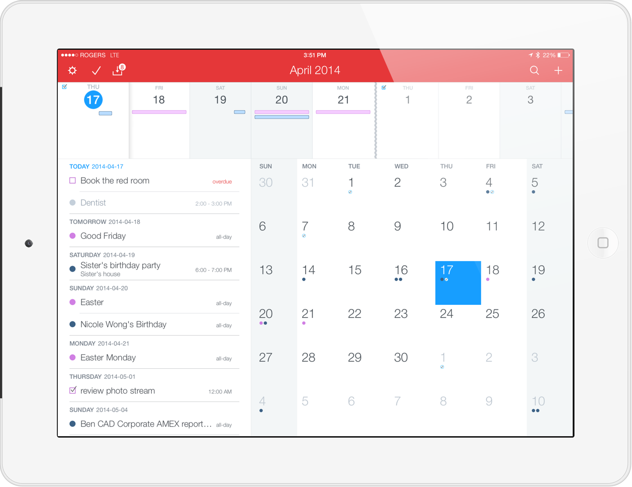 Fantastical 2 for iPad Review