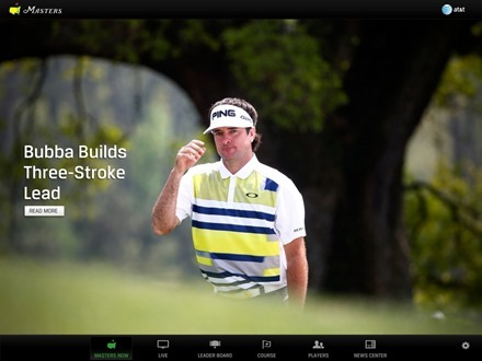 The Masters Official iPad app