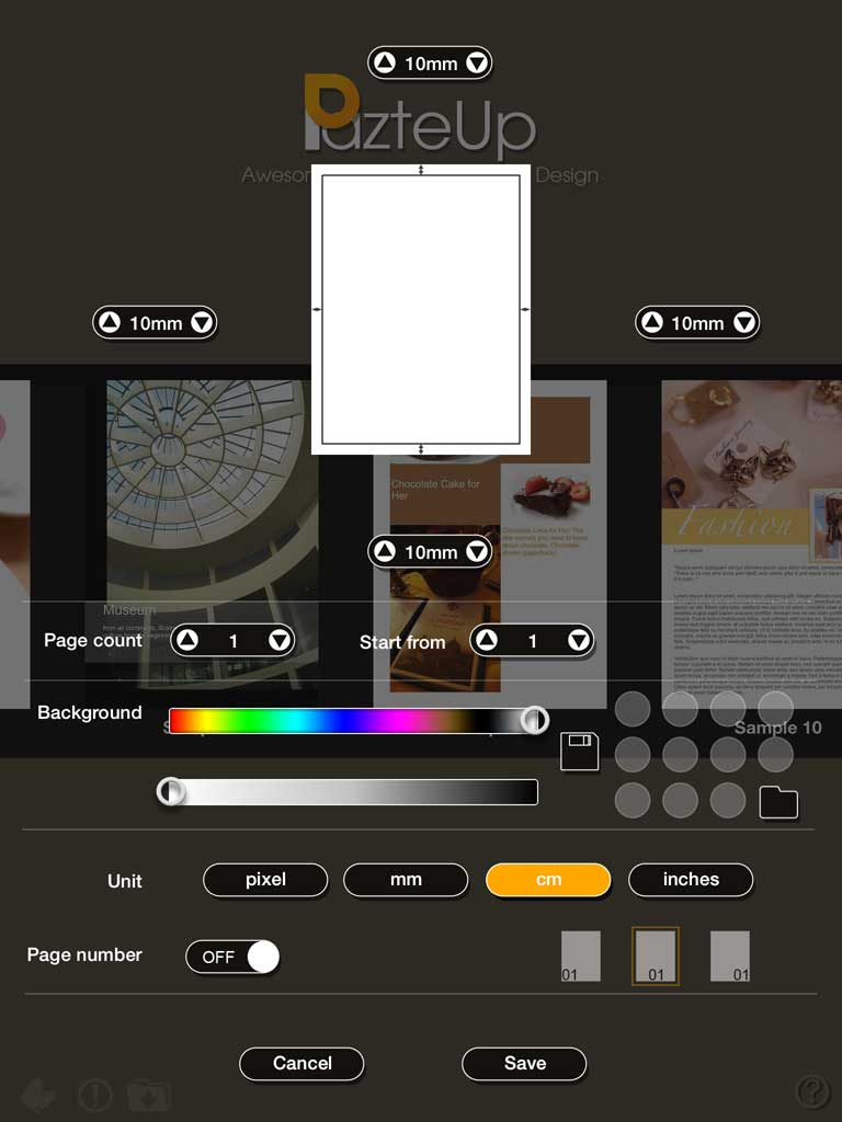 PazteUp – Document Layout and Design tool for iPad