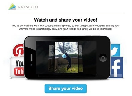 Animoto Email