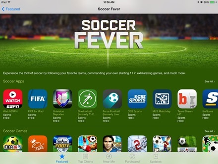 Soccer Fever App Store section