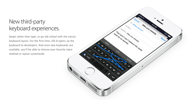 Hurrah! iOS 8 Brings Keyboard Choices