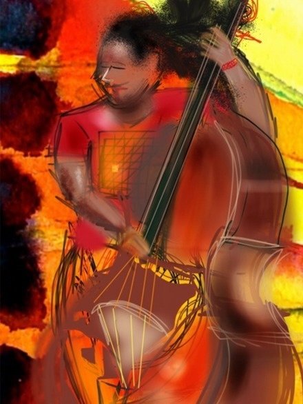Cellist by Claire Iris Schencke