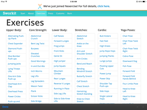 Review: Sworkit for iPad | iPad Insight