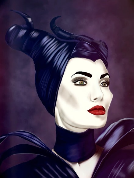 Maleficent iPad Painting