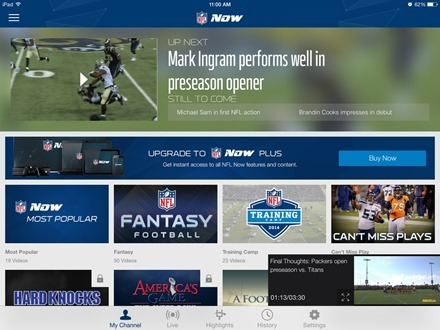 NFL Now iPad App