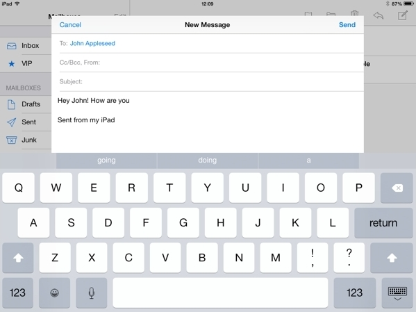 QuickType for ipad