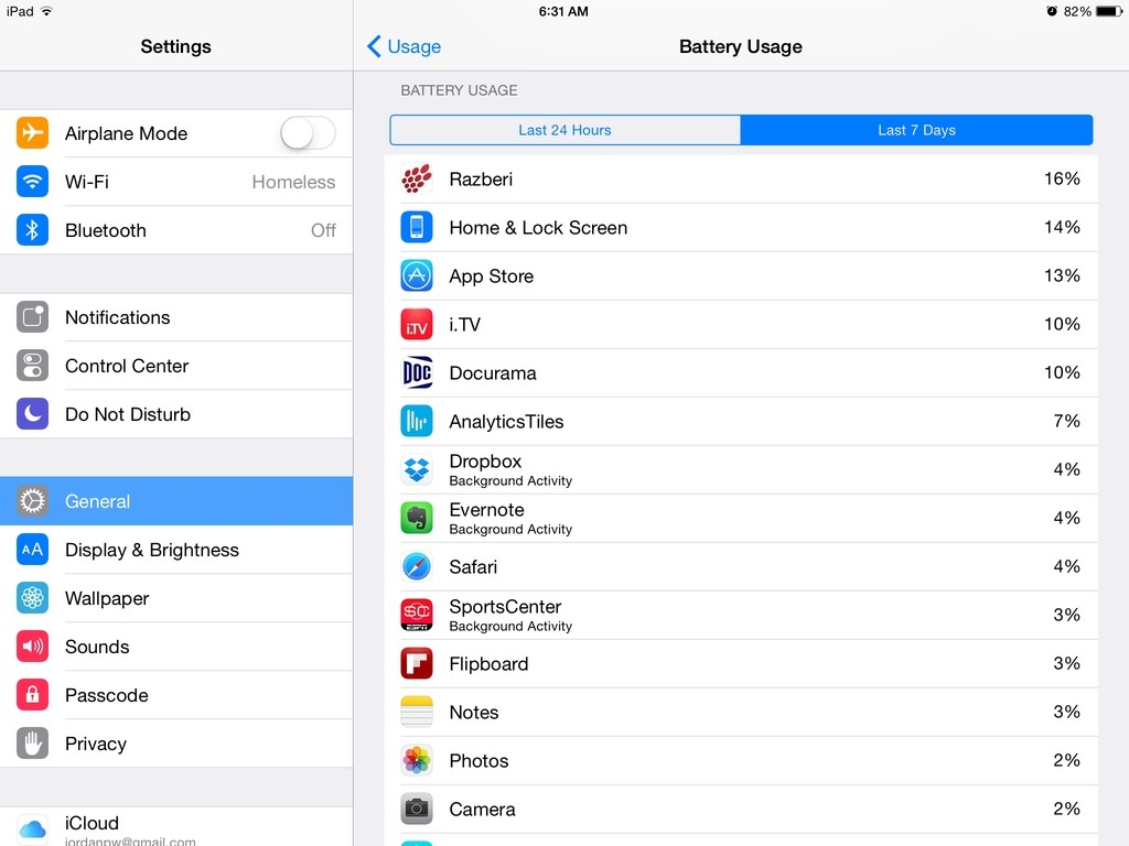 iOS 8: How to See Which Apps Are Using the Most Battery