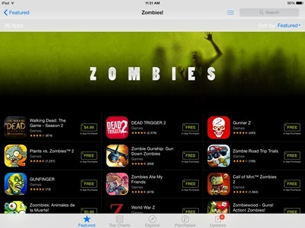 Zombies App Store collection