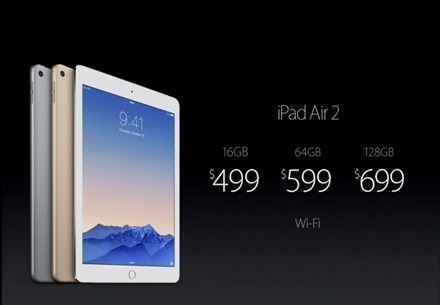 iPad Air 2 Pricing