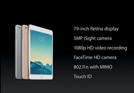 iPad mini 3 Features