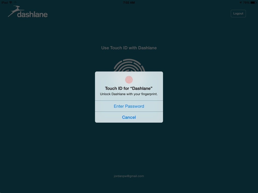 dashlane how to use with simplenote applications
